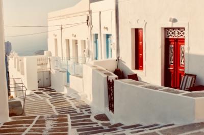 greece, greek islands, mediterranean islands, red doors, dreamy, paradise, holiday, mediterranean holiday